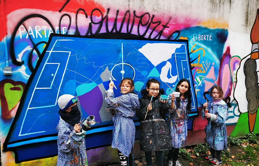 Atelier enfants, Art et Sport, centre Aretha Franklin