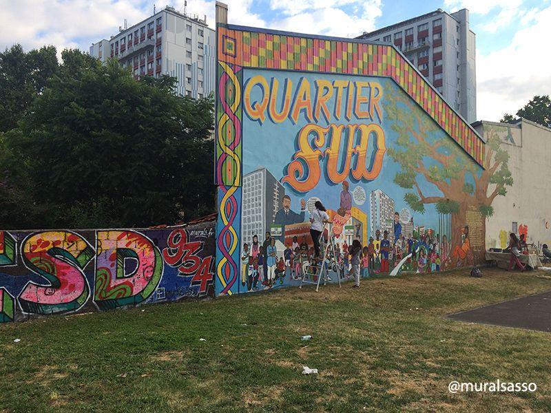 Fresque participative du Quartier SUD