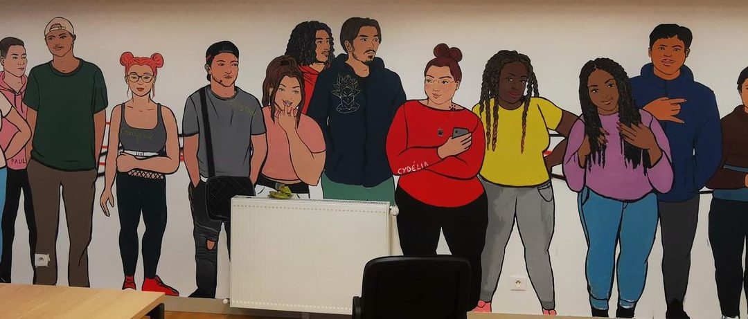 Une fresque solidaire avec les jeunes d'Entracte asso