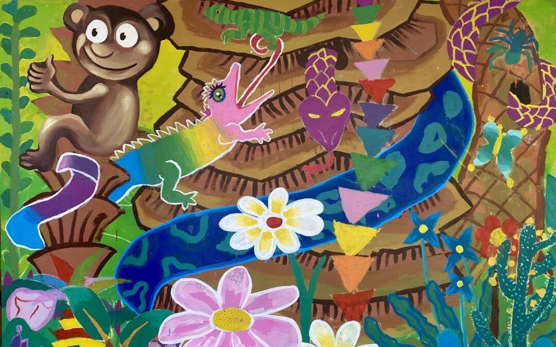 Fresque participative à l'école Jules Guesdes d'Argenteuil