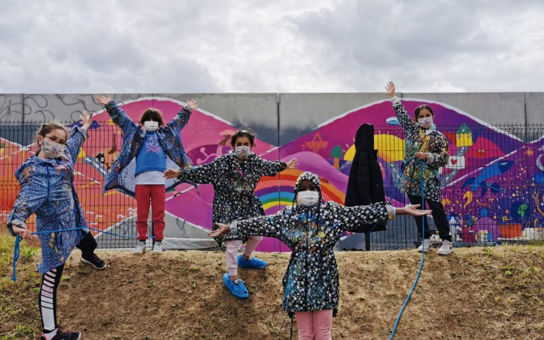 Fresque participative au groupe scolaire Niki De Saint Phalle de Saint-Denis